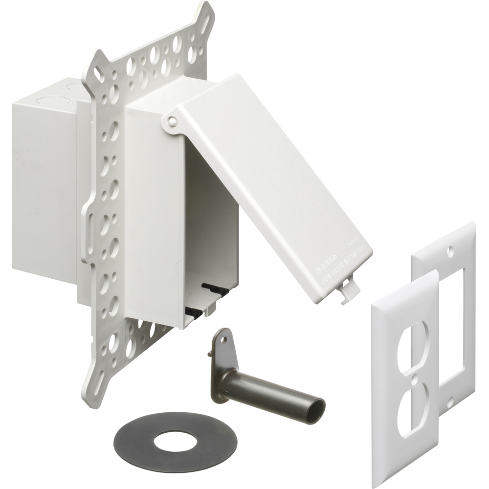 ARLI DBVM1W WHITE O/D RECEPT. BOX- STUCCO