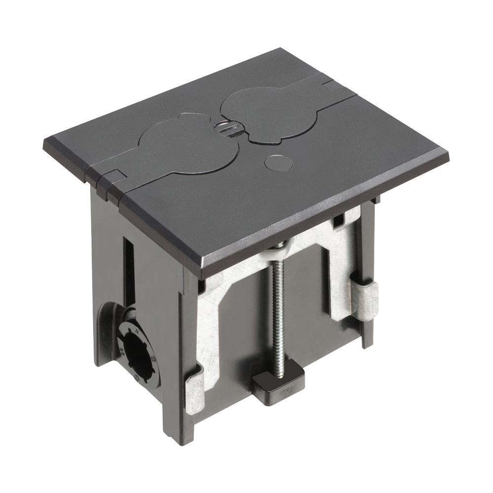 ARLFLBAF101BL BLACK FLOOR BOX - FLIP, ARLINGTON