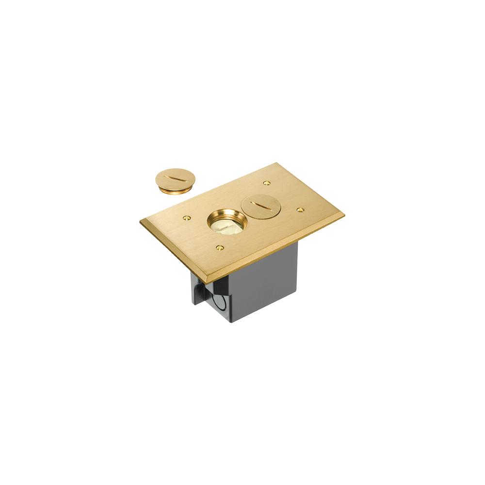 ARLFLBR101MB BRASS RETRO FLOOR BOX /W NM BOX, ARLINGTON