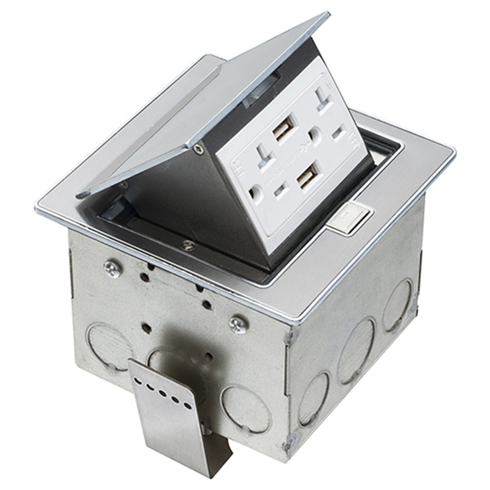 TRAPDOOR COUNTERTOP BX /W TWO USB PORTS