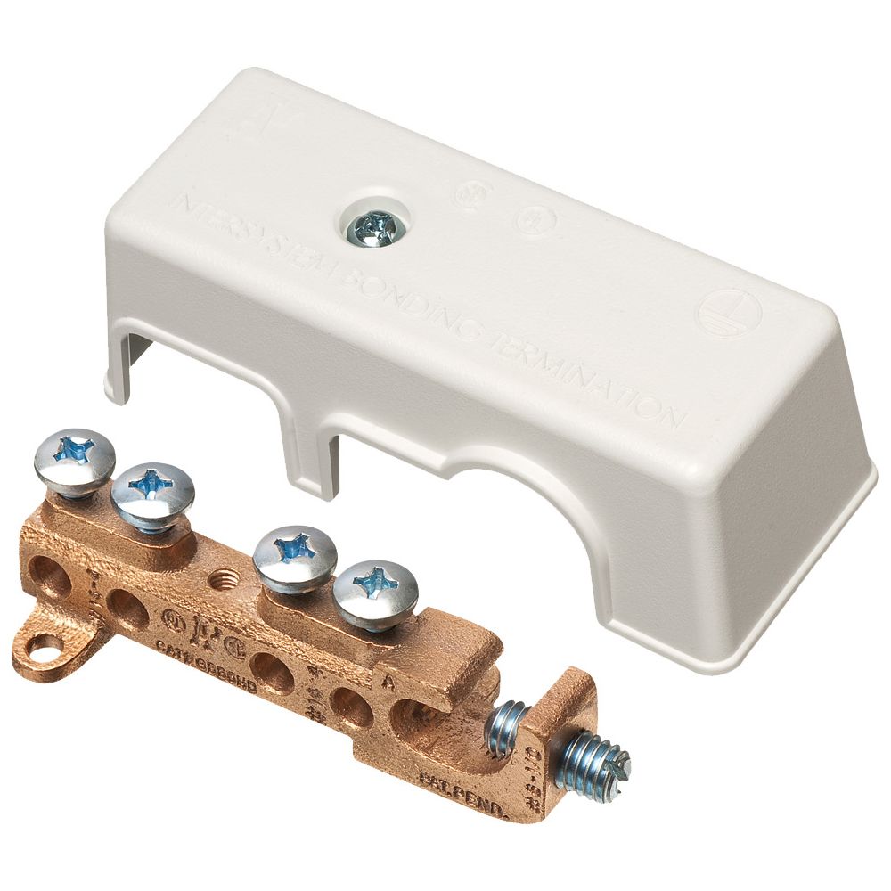 Arlington GBB50 #6 to 1/0 CU/AL Grounding Bridge, Bronze