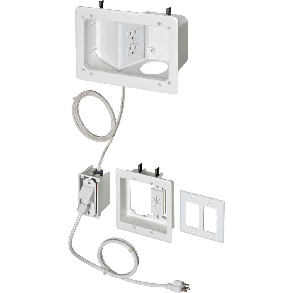 WHITE TV BOX-ANGLED