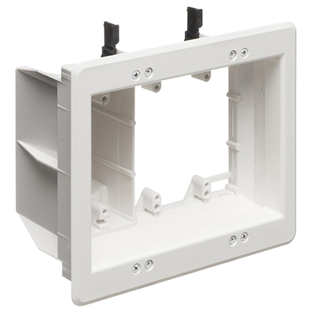 3 GANG WHITE TV BOX