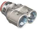 "3838AST - 3/8"" Insulated Snap Duplex Barrell MC Diecast Conn - Arlington Industries"
