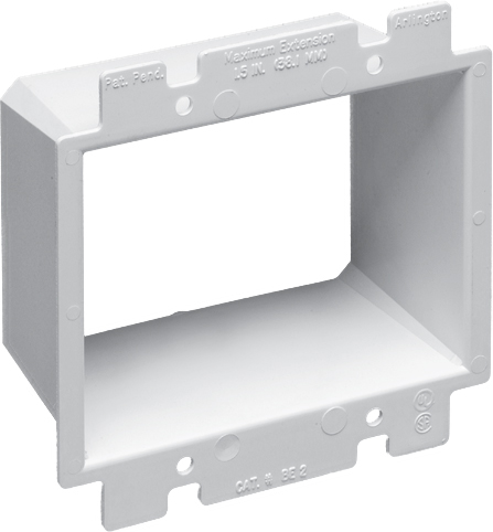 Arlington BE2 2-Gang Wall Box Extender