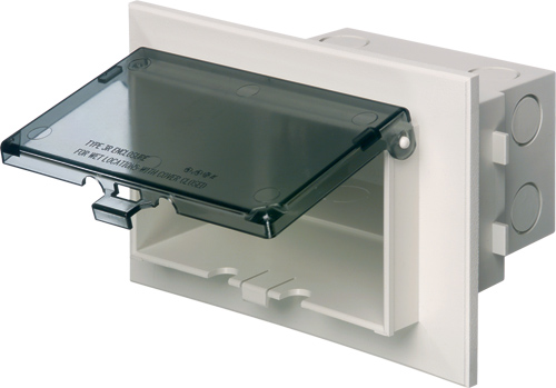 Arlington DBHB1C Dri-Box InBox Brick; Clear