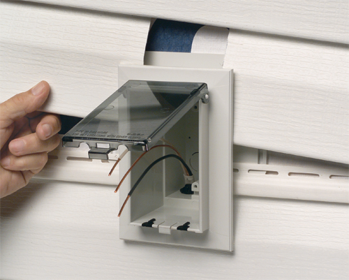 Arlington dbvs1c product information How to install exterior electrical outlet