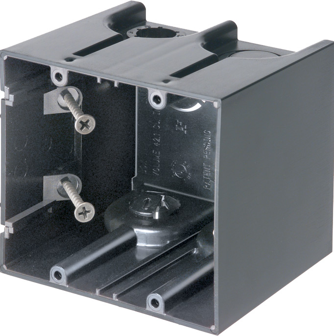 Arlington F102 ONE-BOX 2-Gang Non-Metallic Switch / Outlet Box; 3 1/2 In Deep; Cubic Capicity 42 In