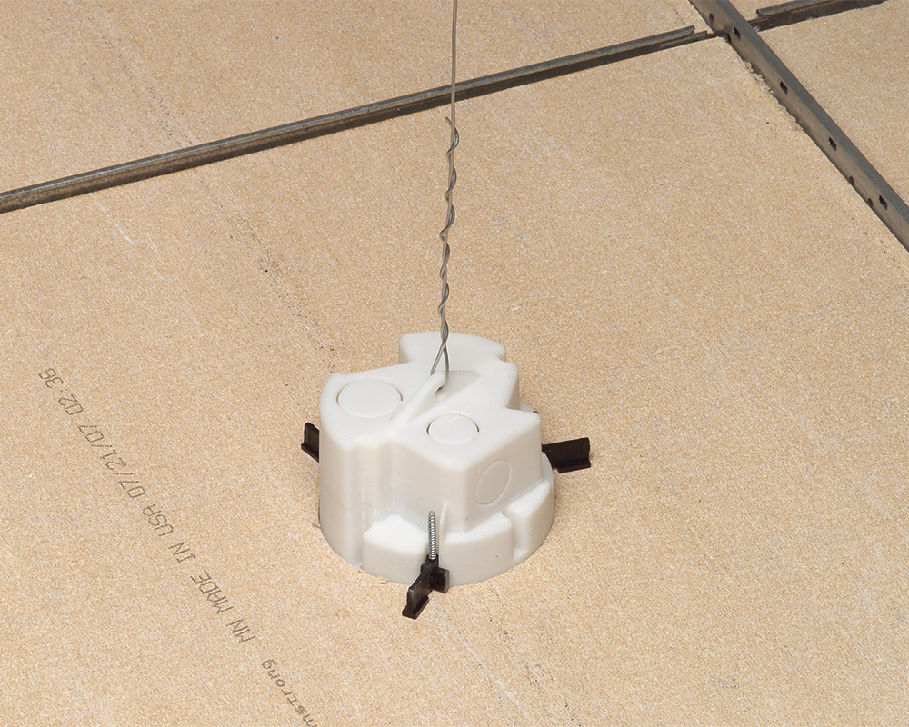 Arlington FL430 4 in. Non-Metallic, Old Work Ceiling/Fixture Box with Speed Clamps