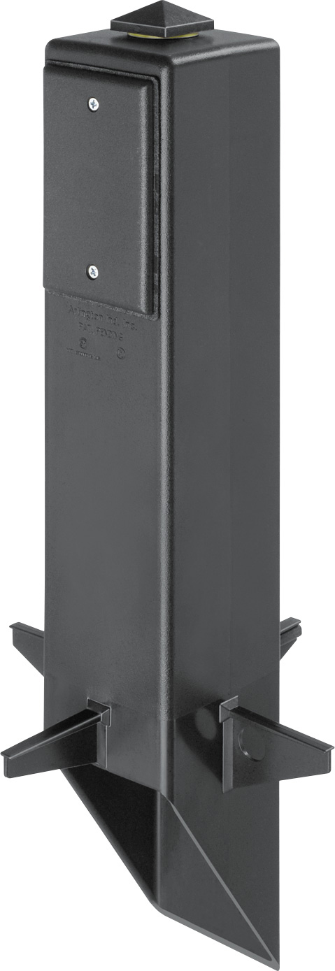 Arlington GP19B 19-1/2 Inch Black Angle Cut Post Support For Outdoor Fixtures GFCI Devices