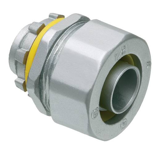 Arlington LT50  1/2 in. Straight Zinc Die-Cast Conduit Connector, Insulated Throat, Liquid Tight