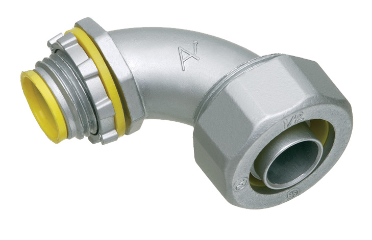 Arlington LT9050A 1/2 In 90 Degree Liquidtight Flex Connector