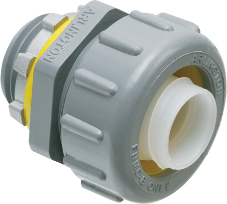 Arlington NMLT200 UV Rated Non-Metallic PVC Straight Connector / Conduit Fitting; 2 In